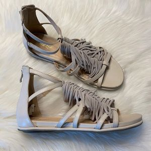 Grazie Fringe Gladiator Sandals